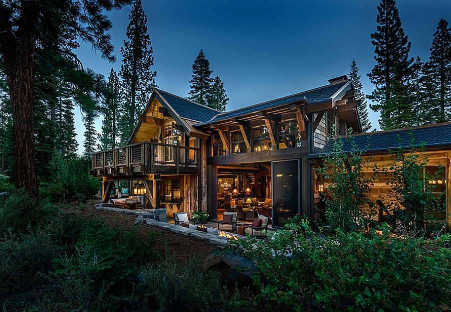 Stunning scenery surrounding the beautiful cabin house