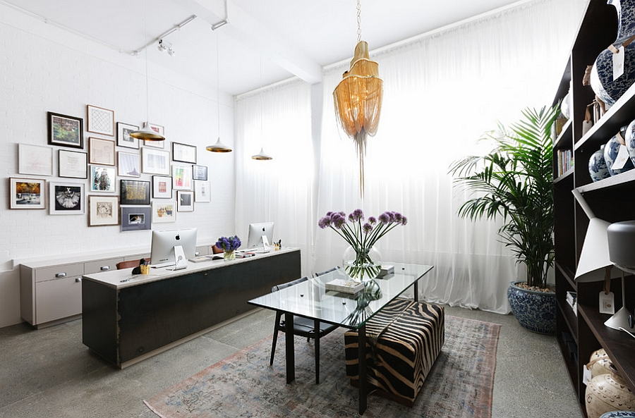 View In Gallery Stylish Home Office Design For The Contemporary Home [Design:  MPD London]