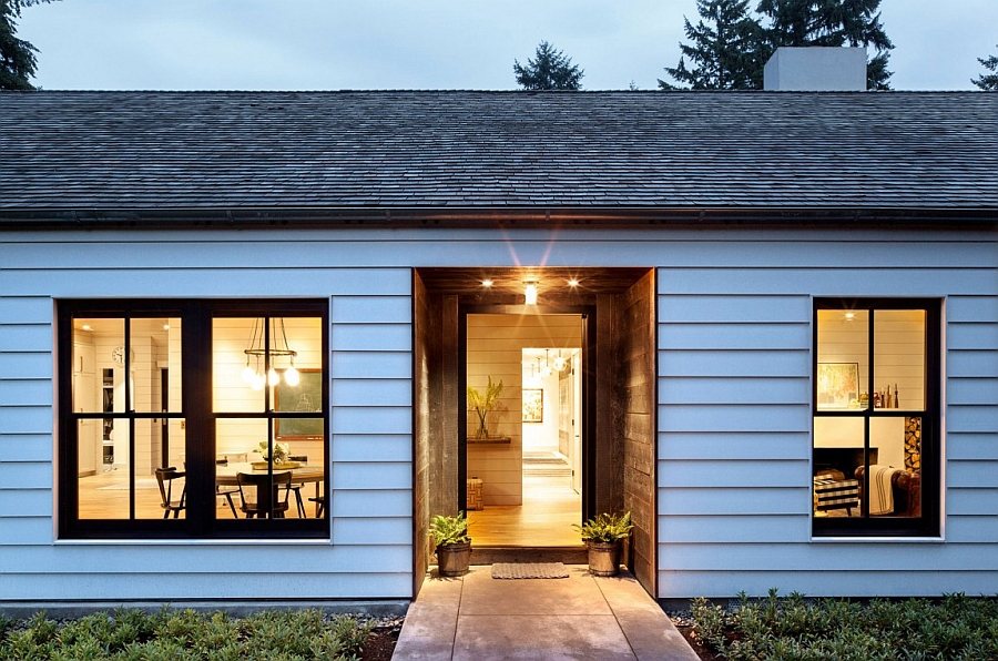 Idyllic portland home blends industrial and mid century styles Modern house portland