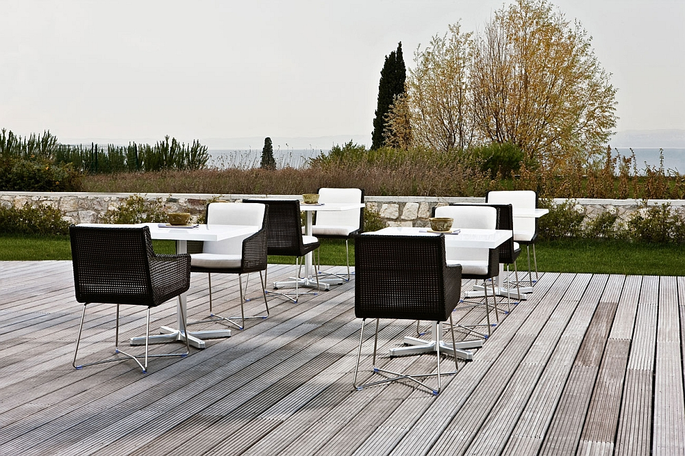 Stylish outdoor chair with elegant, natural style