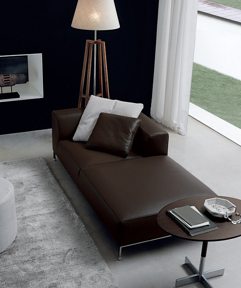 The classic form of the chaise lounge coupled with clean, contemporary design