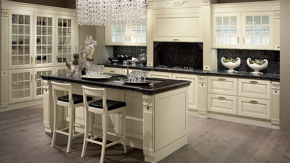 Trendy kitchen transforms traditional features to fit the modern kitchen