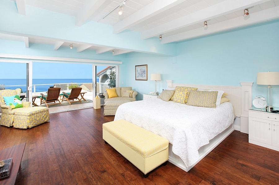 Bon ... Tropical Bedroom In Blue With A Tinge Of Yellow [From: V.I.Photography  U0026 Design