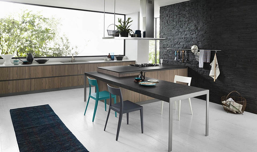 Turn the kitchen into a snazzy dining space Fabulous Italian Kitchens Unravel Space Savvy Design Solutions