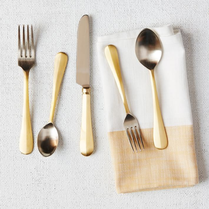 Two-tone flatware from West Elm