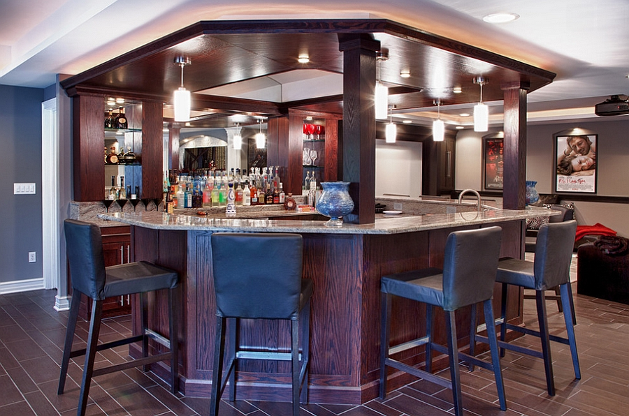unique basement bar design with smart lighting design mj whelan construction - Basement Bar Design Ideas