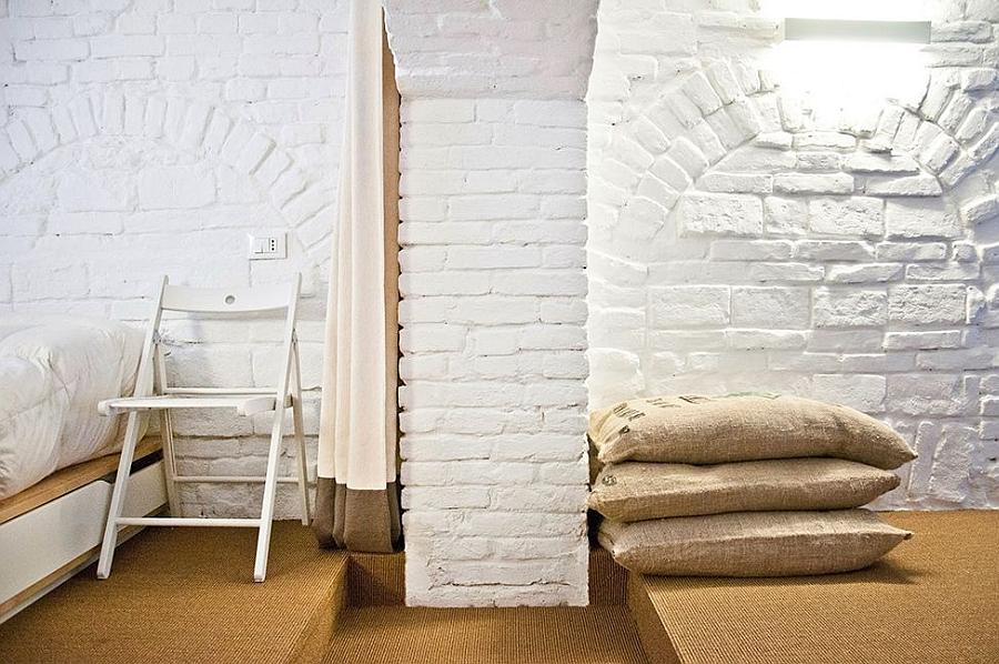 Unique decor inside the revamped loft apartment