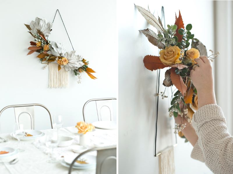 Unique holiday wreath from Design Love Fest Unique Modern Thanksgiving Ideas for a Festive Gathering