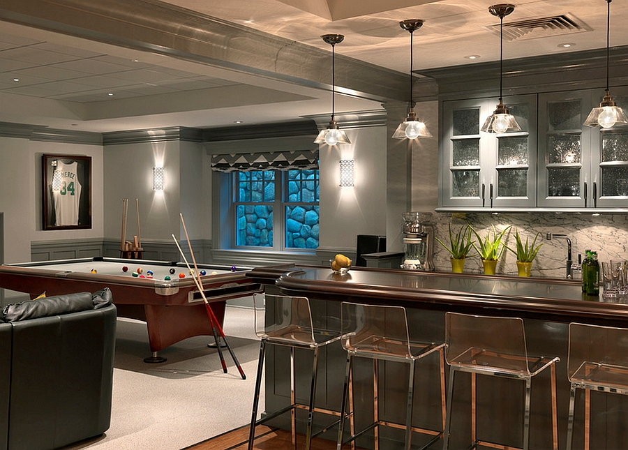 27 basement bars that bring home the good times Modern home plans with basement