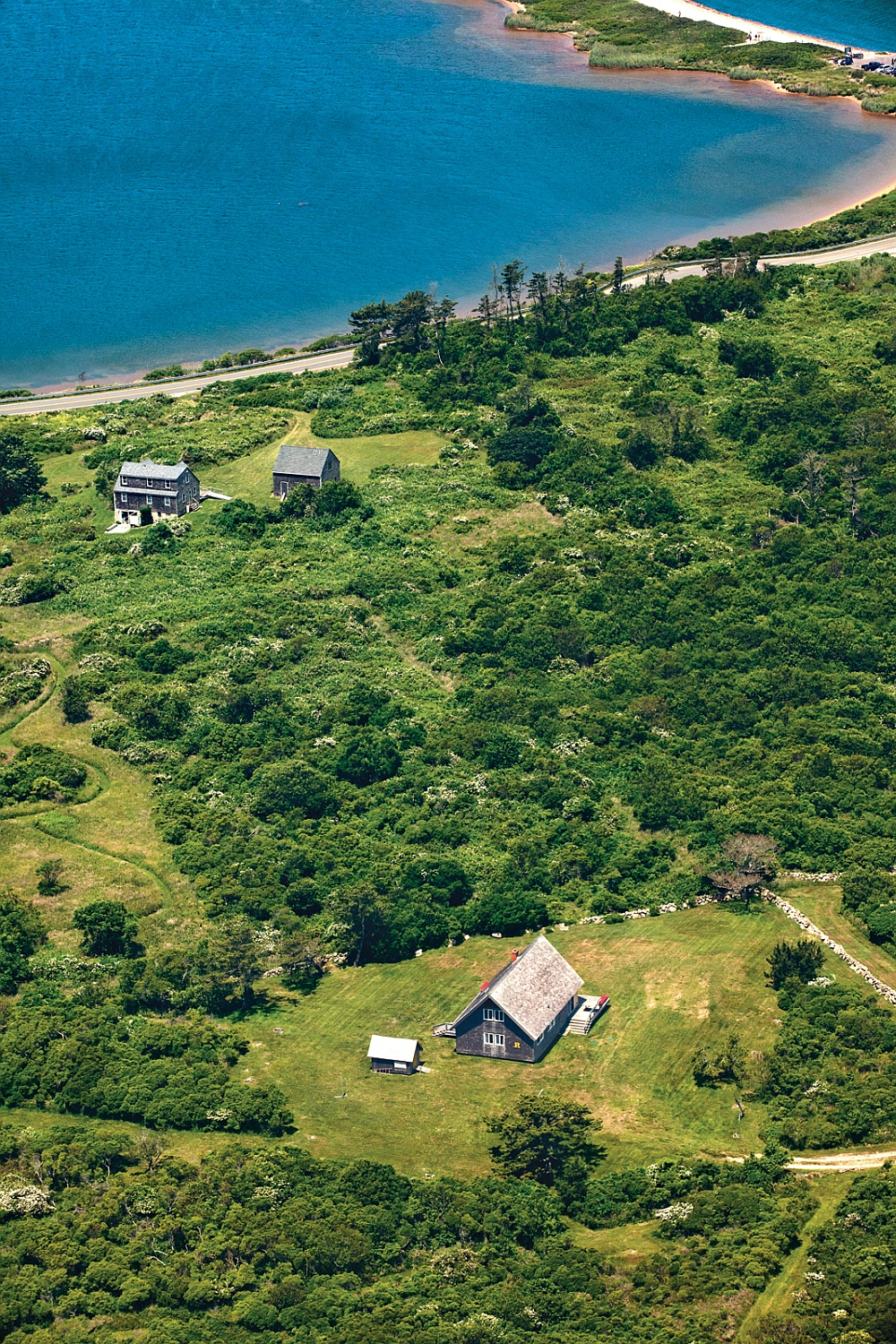 View of the summer retreat of Jens Risom on Block Island
