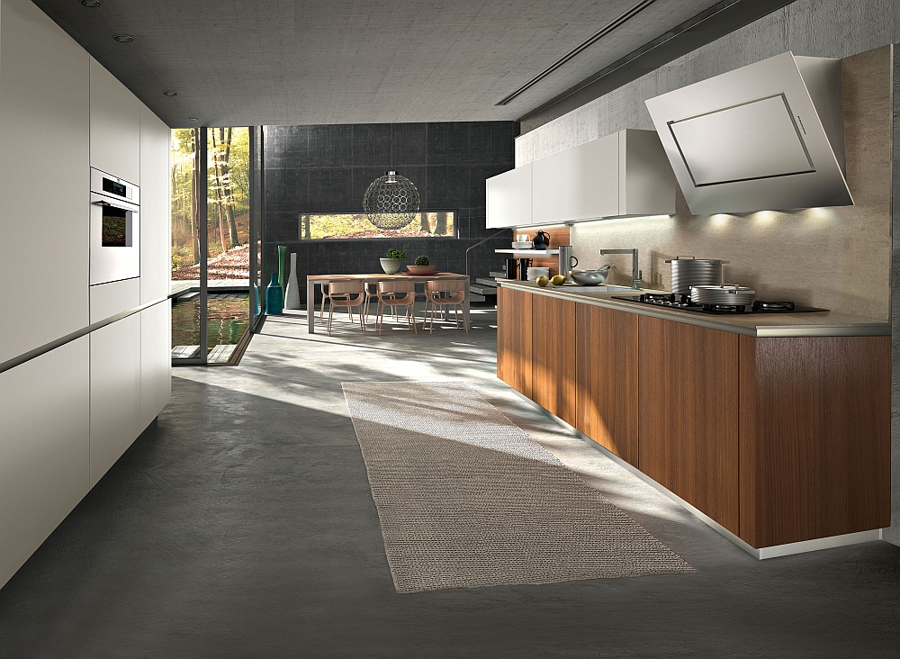 Walnut brings inviting warmth to the minimal kitchen