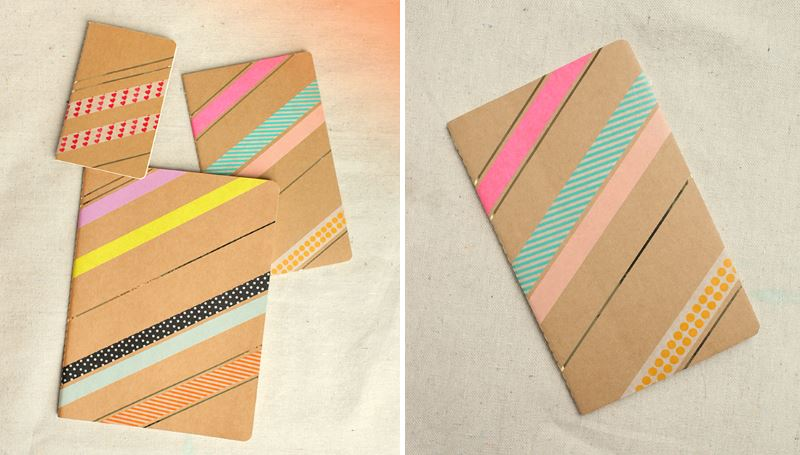 Washi tape journals from Design Love Fest