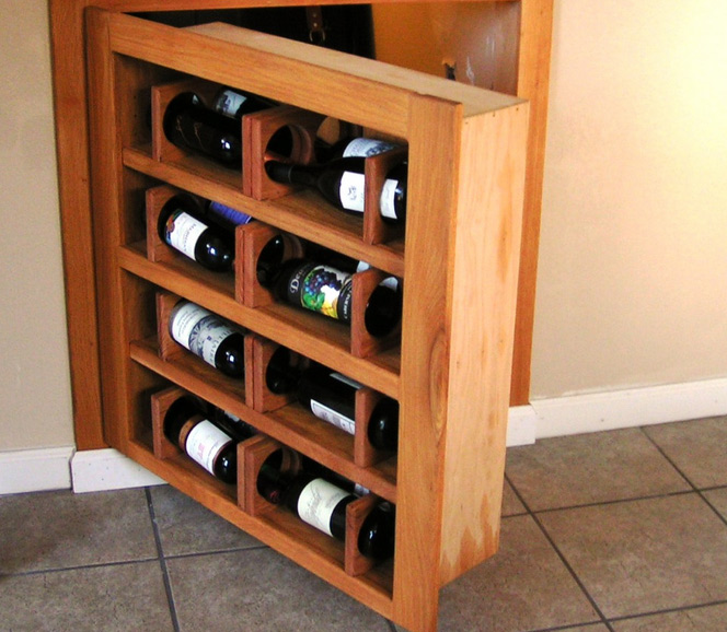 Wine Rack Hidden Passageway