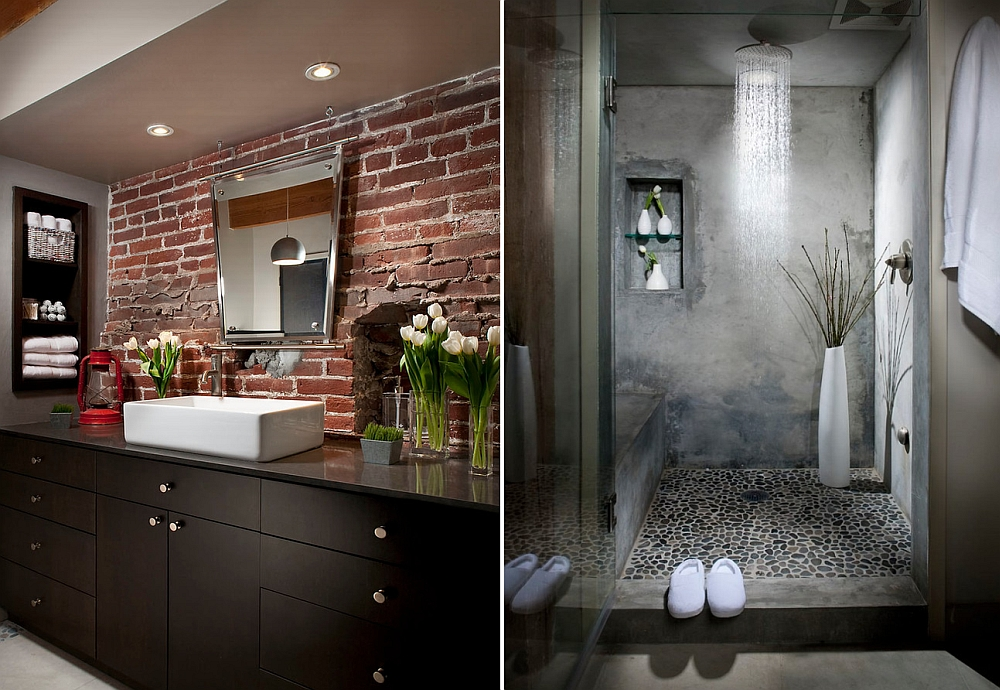 View In Gallery Wonderful Use Of Concrete In The Bathroom [Design: Melissa  Winn Interiors]