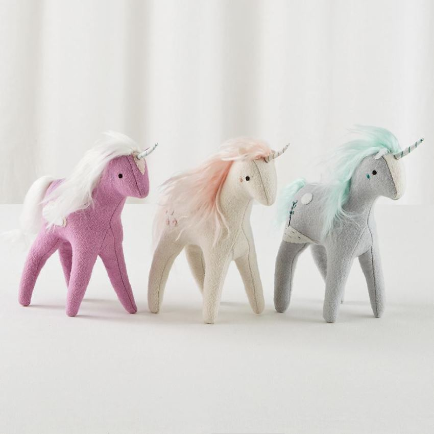 Wool felt unicorns