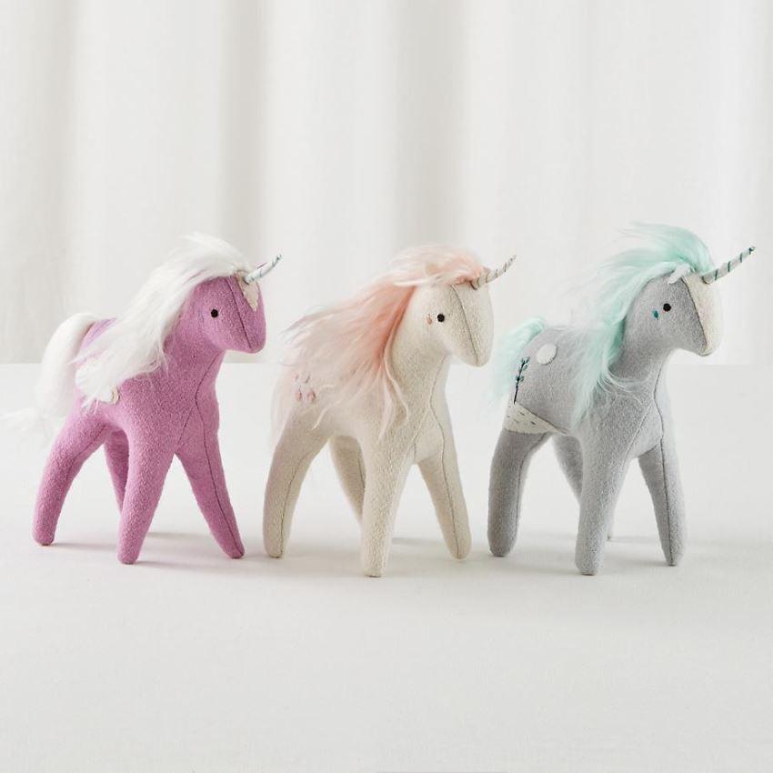 Wool felt unicorns