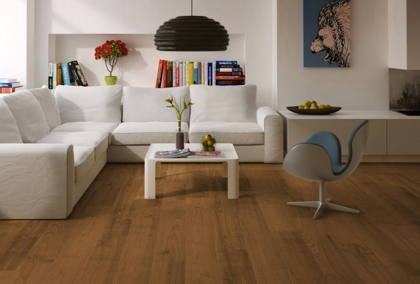 View in gallery Wood flooring via Decobizz