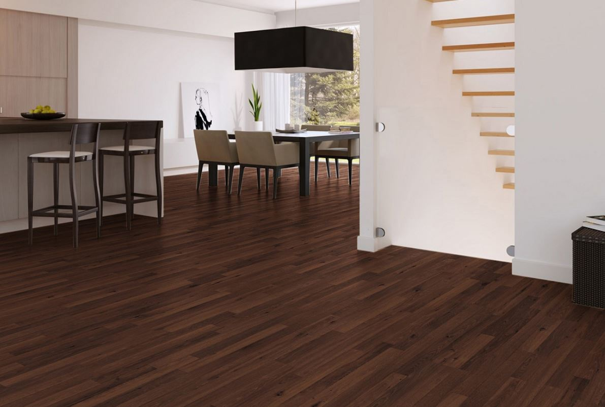 View in gallery Wood flooring via Interiordecodir