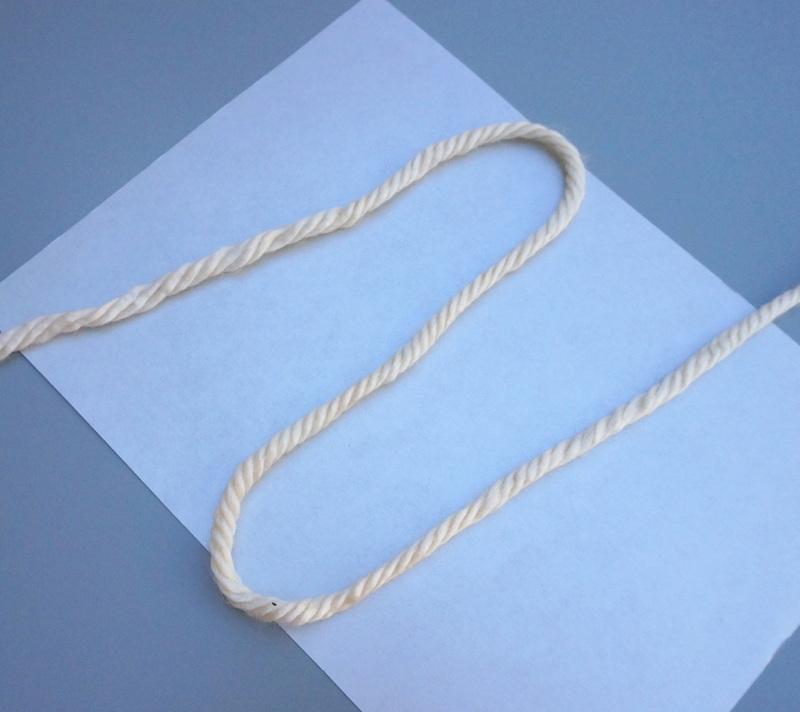 Yarn in a shade of cream