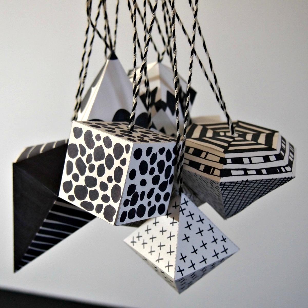 Black and white ornaments