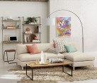 2-piece sectional sofa in a modern eclectic space
