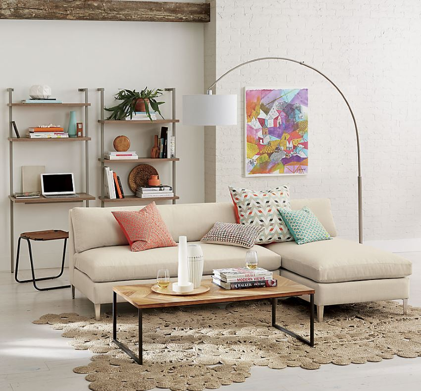 View In Gallery 2 Piece Sectional Sofa A Modern Eclectic Space