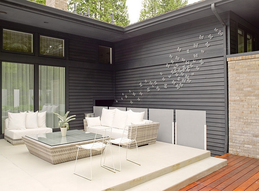 Modern Wall Decor For Patio : Remodeled seattle home creates a cheerful indoor outdoor