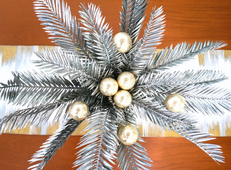 A DIY Christmas centerpiece