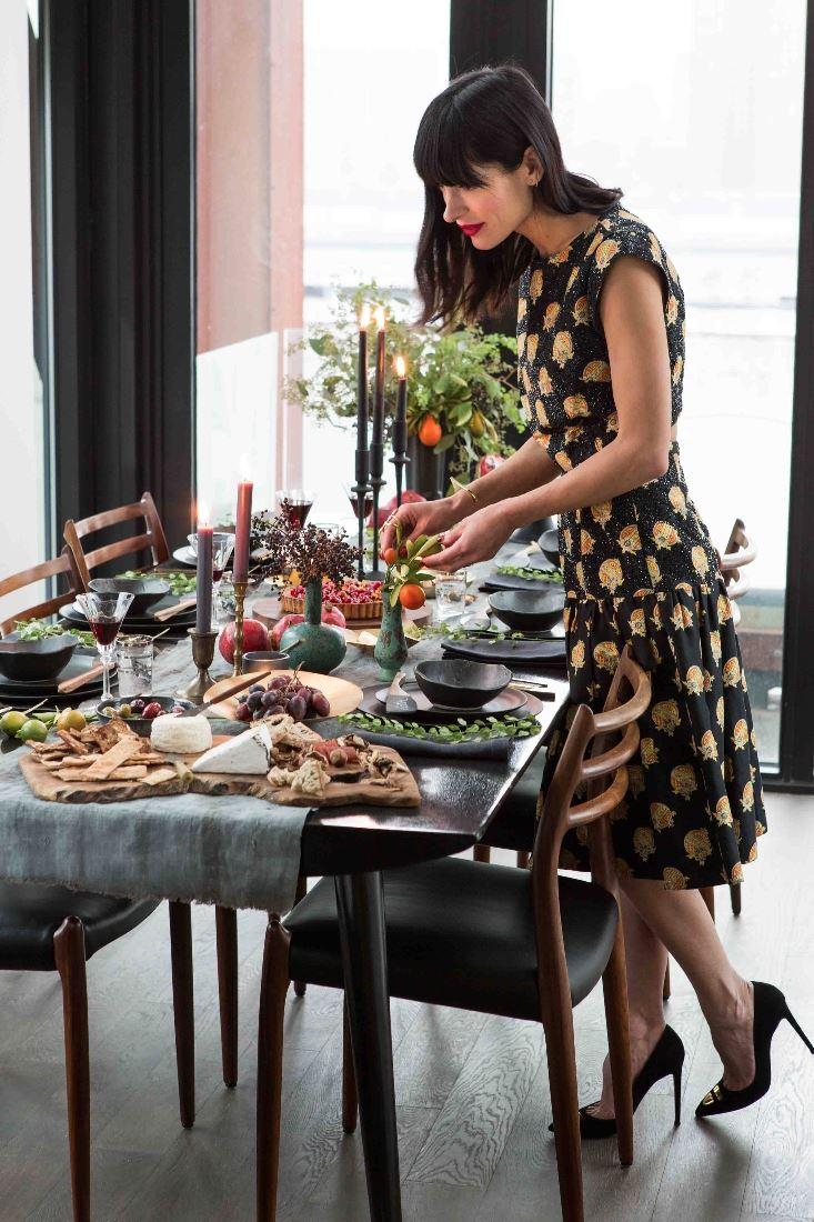 A lovingly prepared holiday table by Athena Calderone