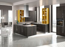 A splash of bold yellow for the modern kitchen