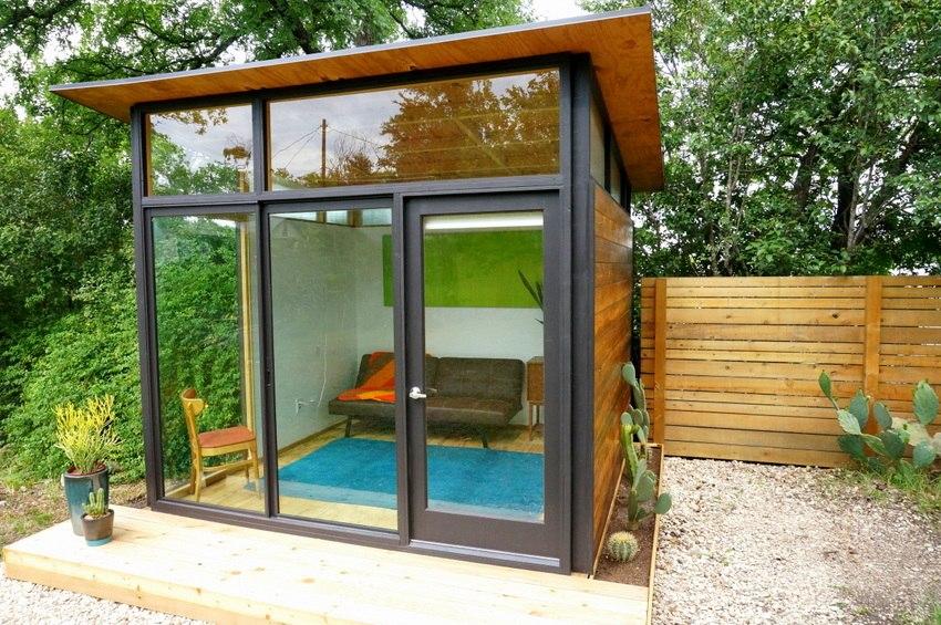 A tiny house with modern flair
