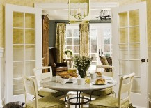 A touch of charming green for the cottage style dining room