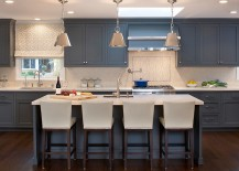 A touch of gray for the contemporary kitchen