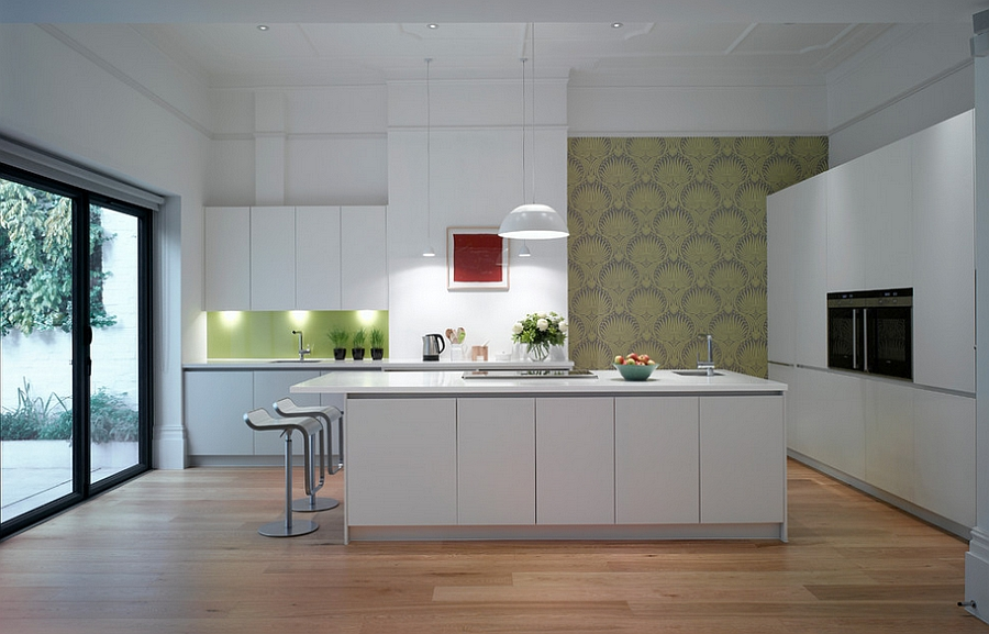 A touch of green for the minimal kitchen [Design: Roundhouse]