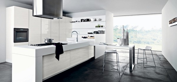 All white kitchen is perfect for those who love a minimal - All white modern kitchen ...