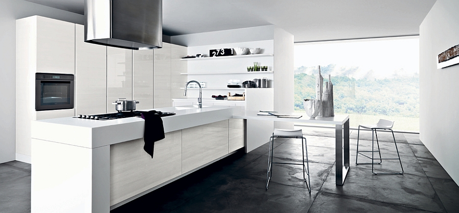 All white kitchen is perfect for those who love a minimal look