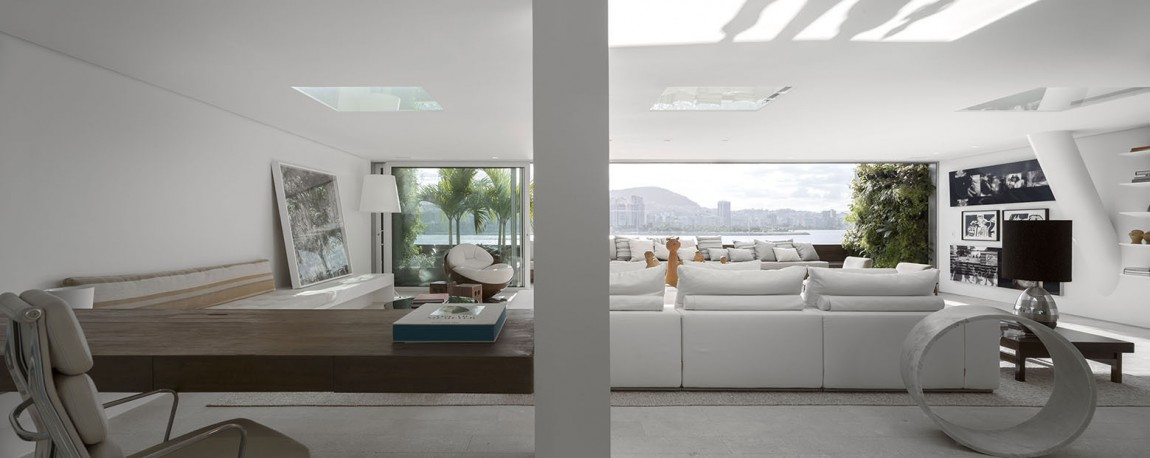 All white living room with comfy decor in white!