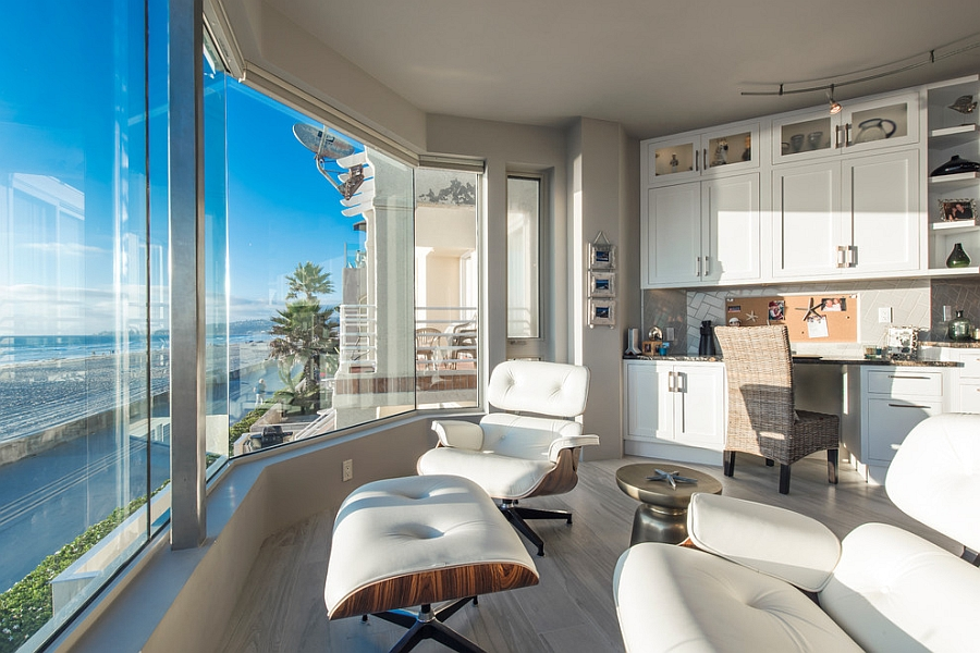Amazing home office with stunning ocean view [Design: Hochuli Design & Remodeling Team]