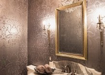 An easy way to add glamour to the small powder room
