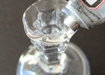 Apply Glass Glue to Candlestick Holder