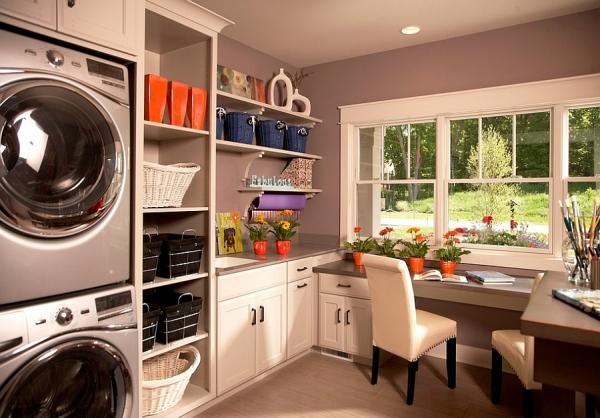 Beautiful modern, multipurpose laundry [Design: VanBrouck & Associates]