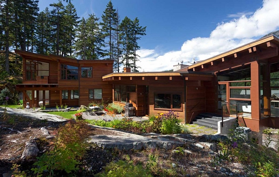 Beautiful wooden exterior of the Canadian Chalet