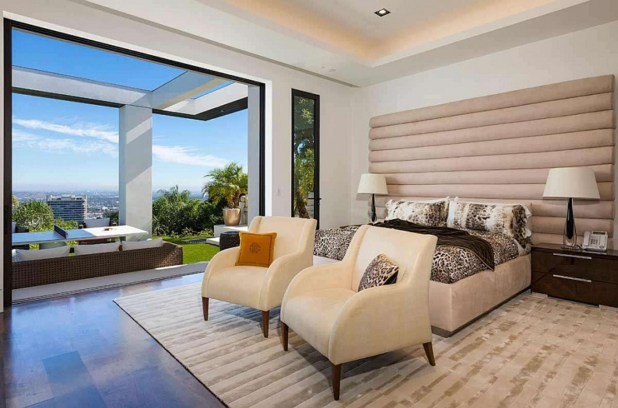 Bedroom of the North Hillcrest Residence in Beverley Hills