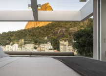 Bedroom opens up to offer a breathtaking view of Rio