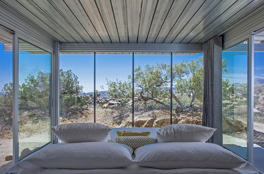 Bedroom with 360 degree view of the landscape outside