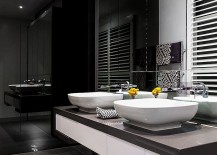 Black and white bathroom idea for the contemporary home