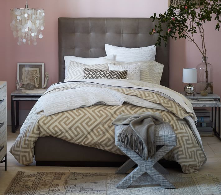 Bone Tufted Headboard in Pink Room1 8 Gorgeous Tufted Headboards That Will Make You Dream a Little Sweeter