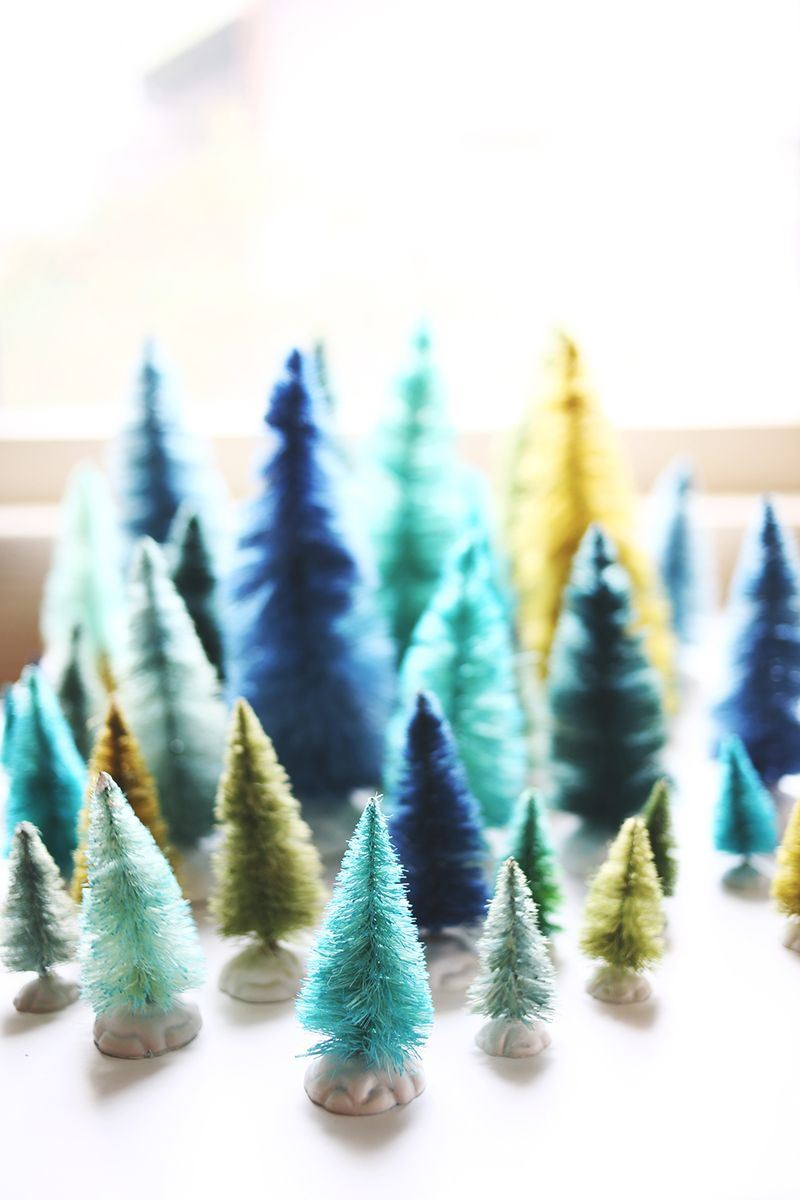 Bottle brush tree DIY from A Beautiful Mess