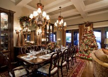 Bring the charm of the Christmas tree into the dining room