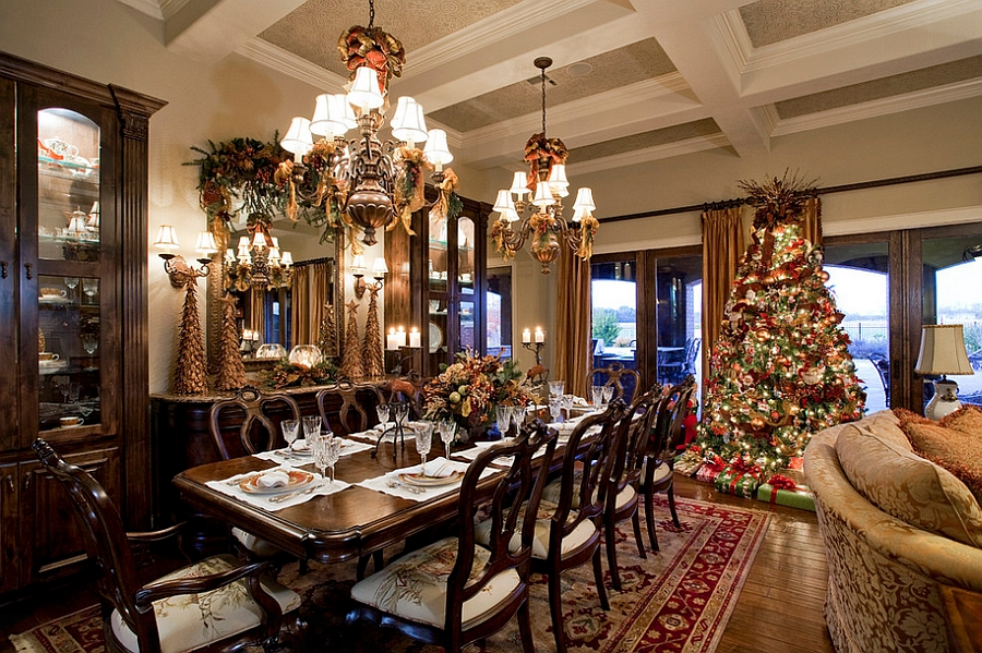 view in gallery bring the charm of the christmas tree into the dining room design dawn hearn - Dining Room Christmas Decorations